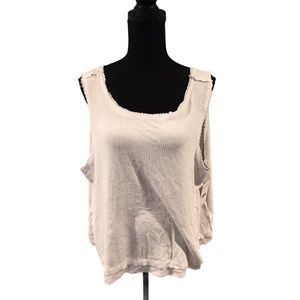Free People New Love Tank Top White Large